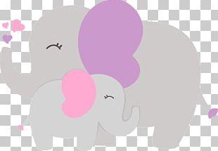 Baby Shower Elephantidae PNG