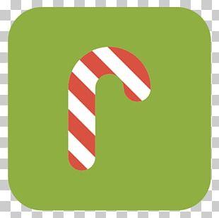 Grass Candy Cane Text Brand PNG