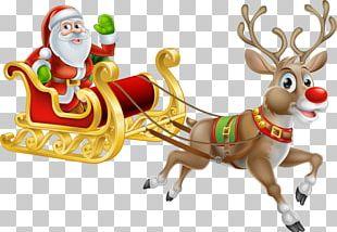 Santa Claus's Reindeer Christmas Santa Claus's Reindeer Illustration PNG