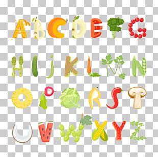 Vegetarian Cuisine Food Letter Alphabet PNG