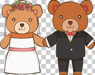 Teddy Bear Marriage Convite Wedding PNG