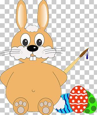 Easter Bunny Easter Egg Christmas Card PNG