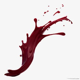 Red Wine Water Spray Splash Effect Element PNG