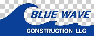 Blue Wave Construction LLC Custom Home Building Architectural Engineering Logo PNG