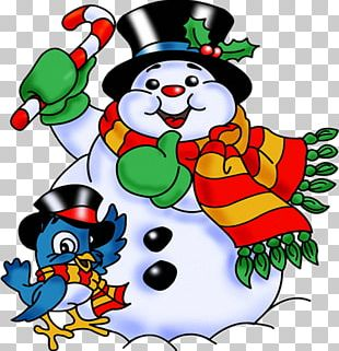 Snowman Santa Claus Christmas PNG