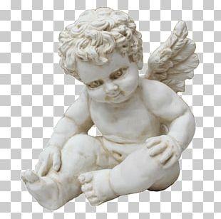 Cherub Guardian Angel Infant Statue PNG