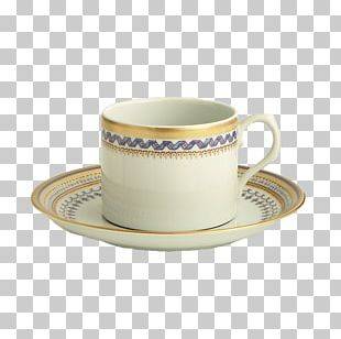 Coffee Cup Saucer Mottahedeh & Company Porcelain Teacup PNG