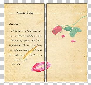 Valentine's Day Greeting Card Design PNG