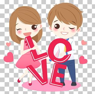 Cartoon Love Drawing PNG