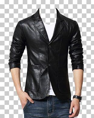 Leather Jacket Leather Jacket Blazer Coat PNG