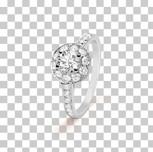 Engagement Ring Van Cleef & Arpels Solitaire Diamond PNG