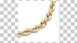 Necklace Rope Chain Gold PNG