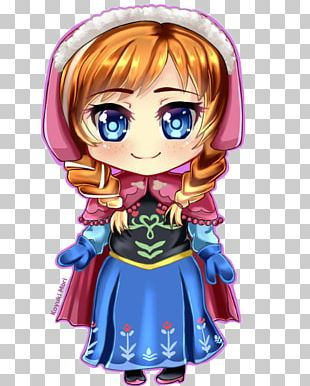 Anna Elsa Chibi Drawing How To Draw Manga PNG
