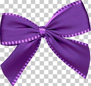 Christmas Purple Santa Claus Gift Ribbon PNG