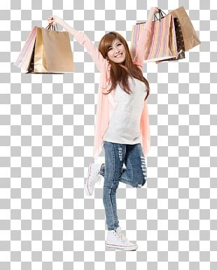 Shopping Bag Stock Photography Shopping Bag Girl Happy PNG