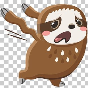 Sticker VKontakte Sloth Emoji PNG