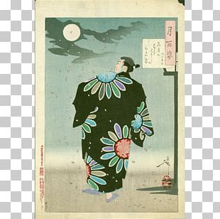 Japanese Art Ukiyo-e One Hundred Aspects Of The Moon Woodblock Printing PNG