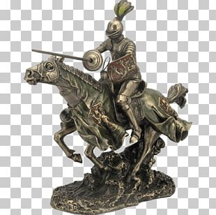 Knight Bronze Sculpture Figurine Bust PNG