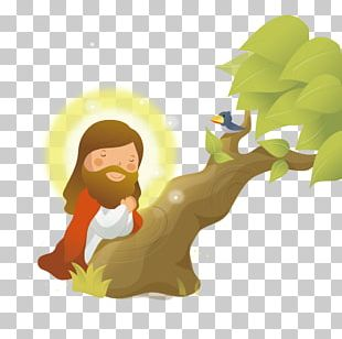 Praying Hands Prayer Tree Illustration PNG
