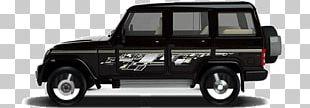 Mahindra Bolero Jeep Wrangler Sport Utility Vehicle Car PNG