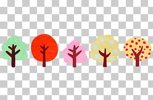 Tree Forest Watercolor Painting Cartoon PNG