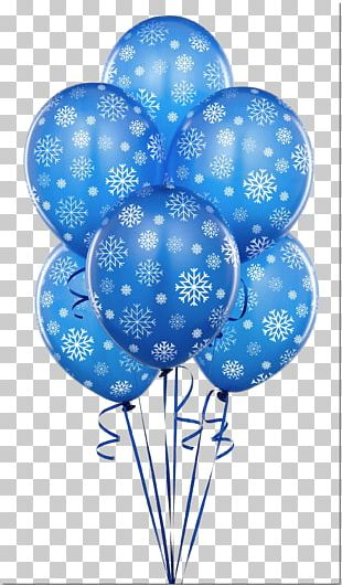 Balloon Blue Party Birthday Flower Bouquet PNG
