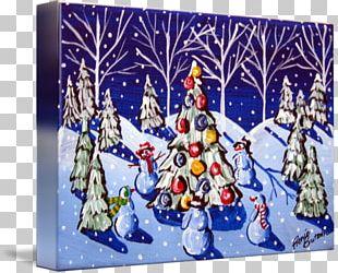 Christmas Tree Work Of Art Christmas Day Painting PNG