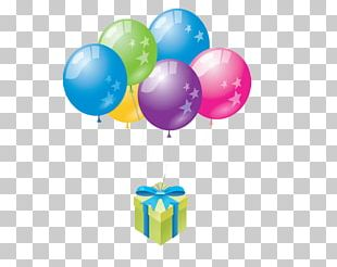 Balloon Happy Birthday Greeting & Note Cards PNG