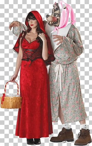 Big Bad Wolf Gray Wolf Robe Little Red Riding Hood Costume PNG