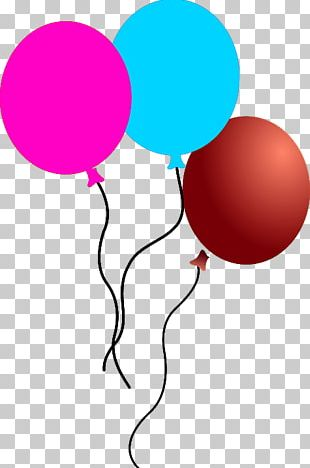 Balloon Line Point Pink M PNG