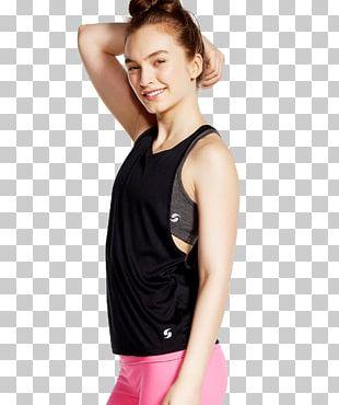 Active Undergarment T-shirt Shoulder Sleeveless Shirt Outerwear PNG