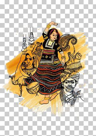 Rajasthan Art Graphic Design Kalbelia PNG