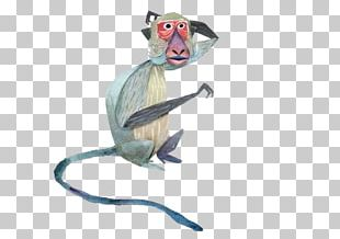 Crab-eating Macaque Mandrill Primate Monkey Illustration PNG