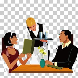 Restaurant Eating Couple Meal Illustration PNG