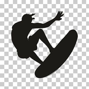 Surfing Silhouette PNG