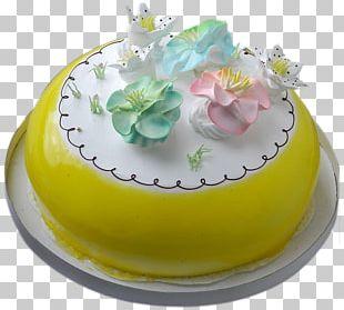 Birthday Cake Cream Pie Bakery Chiffon Cake PNG
