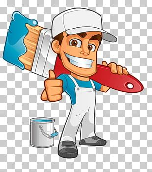 House Painter And Decorator Painting Cartoon PNG