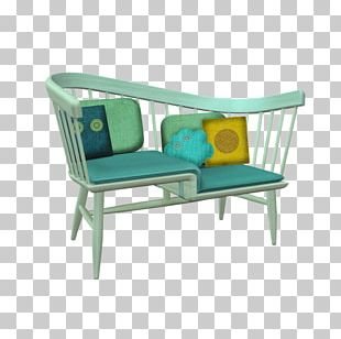 Wing Chair Couch Furniture Office PNG