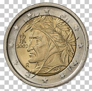 Italian Euro Coins 2 Euro Coin 1 Cent Euro Coin PNG