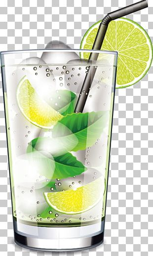Mojito Cocktail Juice Drink PNG