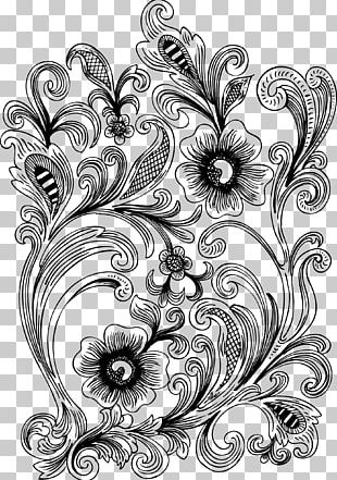 Pyrography Ornament Pattern PNG