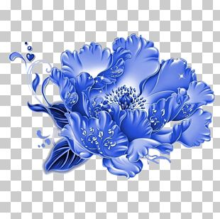 Blue And White Pottery Motif Photography PNG