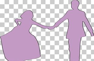 Marriage Couple Silhouette PNG