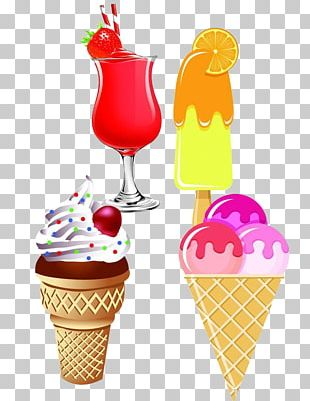 Ice Cream Cones Sundae Juice PNG
