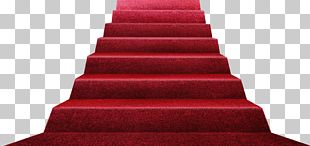 Stairs Red Carpet Floor PNG