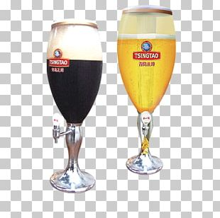 Beer Glassware Wine Glass Tsingtao Brewery Champagne Glass PNG