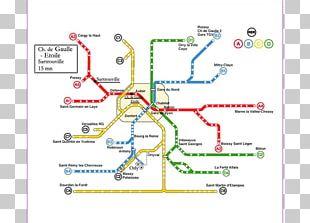 Réseau Express Régional Rapid Transit Map Charles De Gaulle Airport Paris Métro PNG
