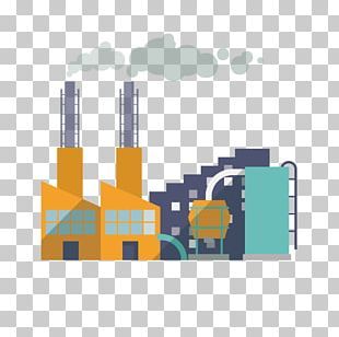 Factory Building Illustration PNG