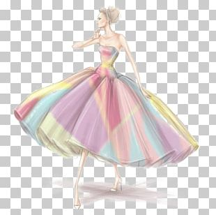 Wedding Dress Fashion Illustration Drawing PNG