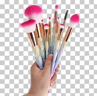 Makeup Brush Cosmetics Glitter Eye Shadow PNG